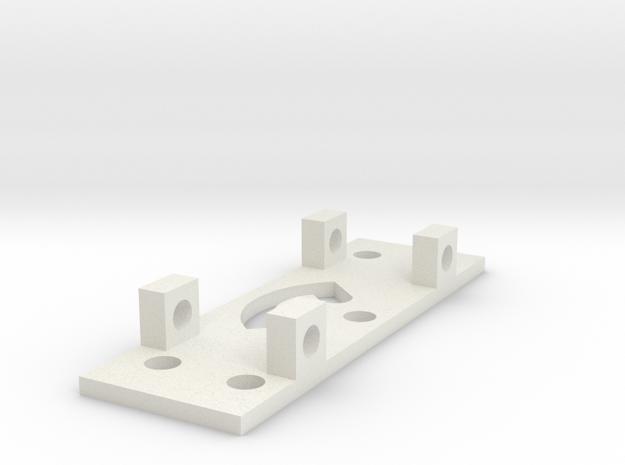GEAR LEFT BRACKET in White Natural Versatile Plastic
