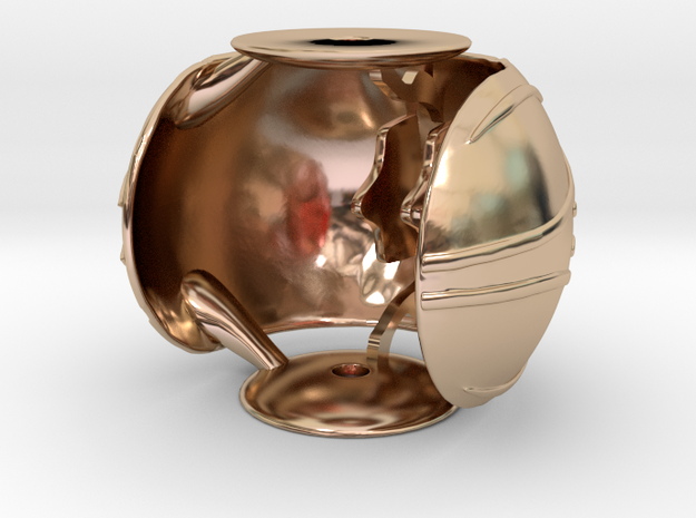 Golden Snitch Ring Box (Back) in 14k Rose Gold Plated Brass