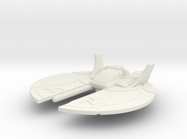 Dralthi Fighter Mk. I: 1/270 scale in White Strong & Flexible