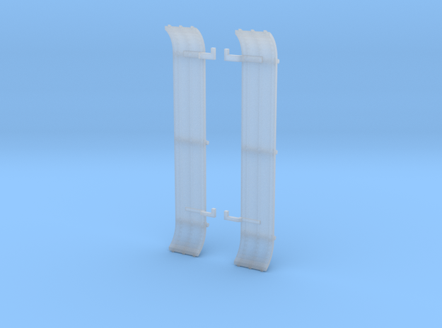 LPG setback triaxle ribbed flattop fenders in Smooth Fine Detail Plastic