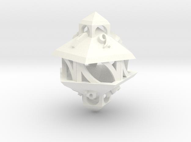 Gazebo d10 in White Processed Versatile Plastic