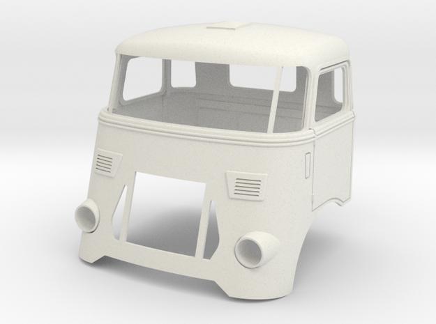 DAF-cab-FK2a in White Natural Versatile Plastic
