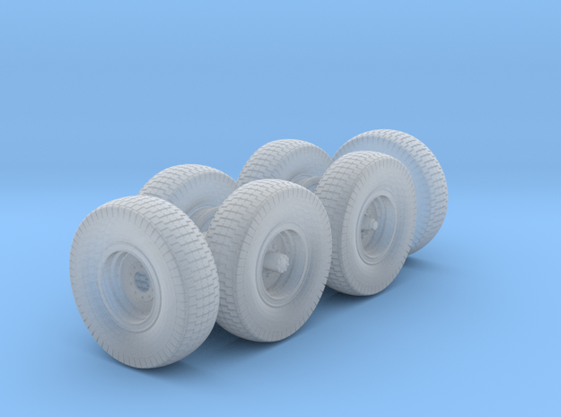 1/48th Chevy LRDG Sand Tyres  in Smooth Fine Detail Plastic