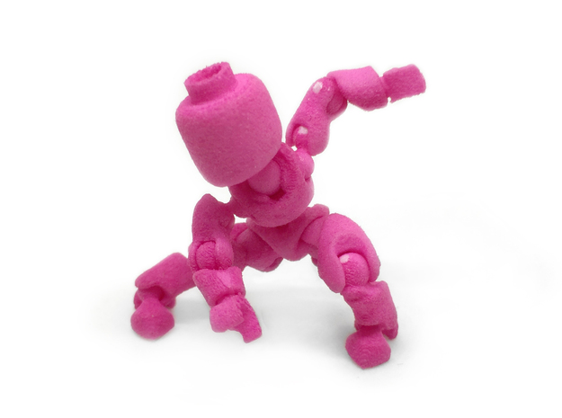 CoolEgo Articulate Minifig 2 in Pink Processed Versatile Plastic