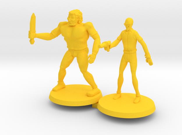 Drokk & Russel in Yellow Processed Versatile Plastic