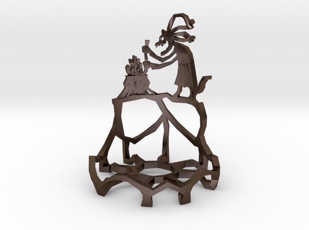 Grýla tealight in Polished Bronze Steel