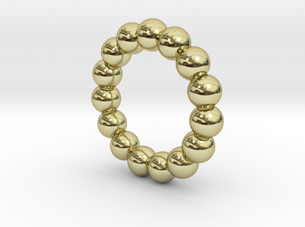 Infinite Spheres Ring in 18k Gold Plated Brass