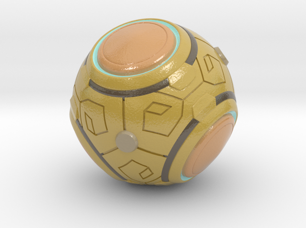 Zenyatta's Ball (Color/Different Sizes available) in Coated Full Color Sandstone: Small