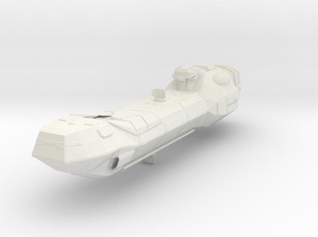 Lancer-class Frigate in White Natural Versatile Plastic
