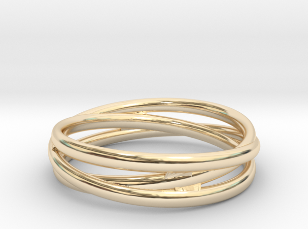 Triple alliance ring in 14k Gold Plated: 11.75 / 65.875