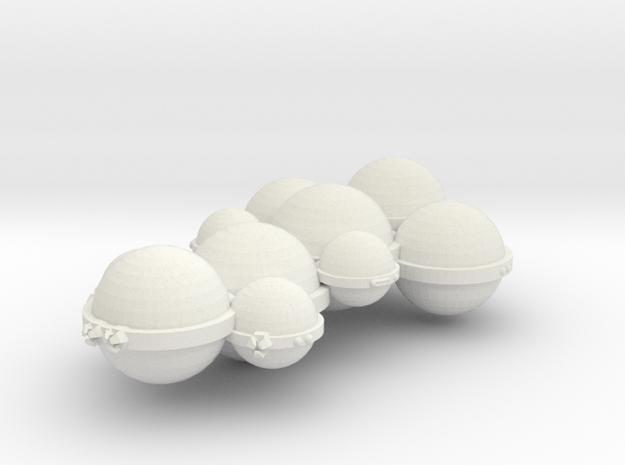 3125 Scale Koligahr Heavy Cruiser (CA) MGL in White Natural Versatile Plastic