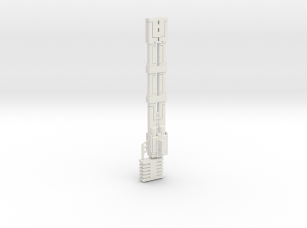mk1 railtankgun in White Natural Versatile Plastic