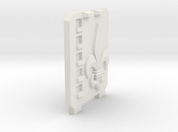 Supressor Left side hatch ( fleur de lis ) Rhino c in White Strong & Flexible