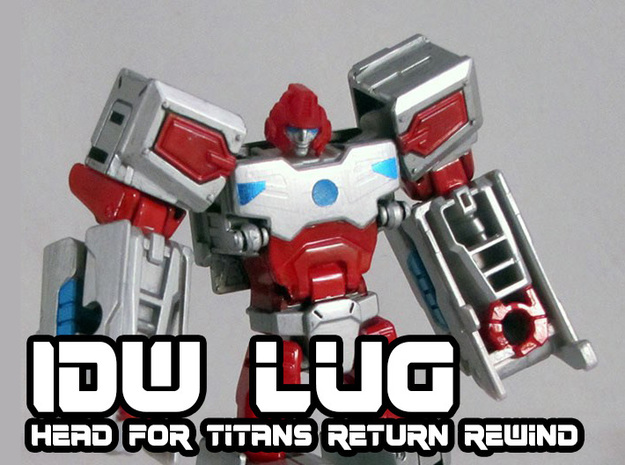 Lug Head for Titans Return Rewind in Smooth Fine Detail Plastic