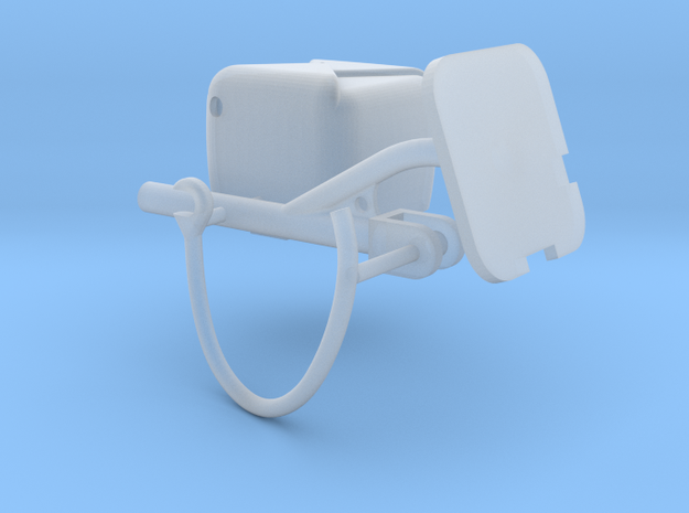 SINGLE CHUTE MOUNT in Smooth Fine Detail Plastic