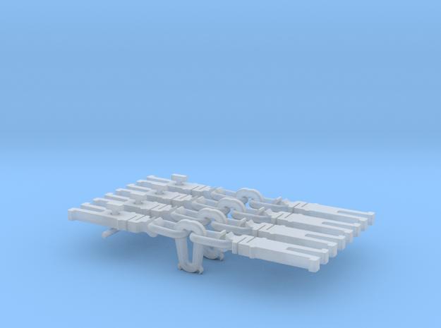 NEM OO Type 32 Couplings - Strait Instanter x4 in Smooth Fine Detail Plastic