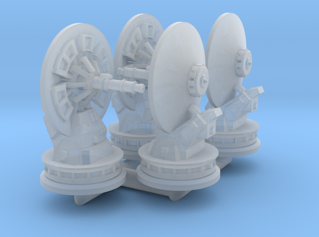 1/270 Rebel Anti-Vehicle Turrets (4) in Smooth Fine Detail Plastic
