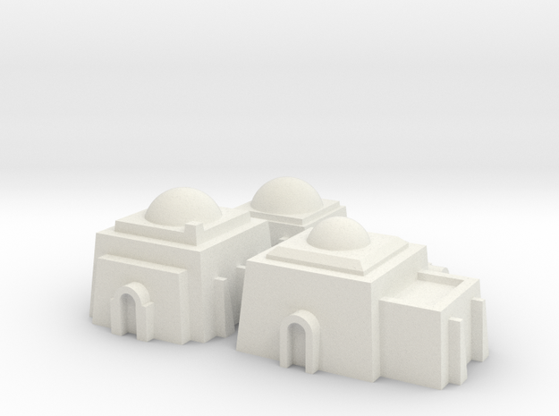 1/270 Tatooine Buildings in White Natural Versatile Plastic
