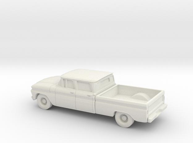 1/87 1962 Chevrolet C20 Fleetside Small R. Window in White Natural Versatile Plastic