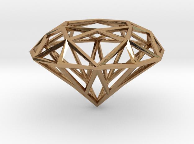 Diamond in Polished Brass