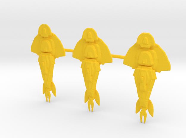 "CU Keldon X3 1.5"" on sprue in Yellow Strong & Flexible Polished"