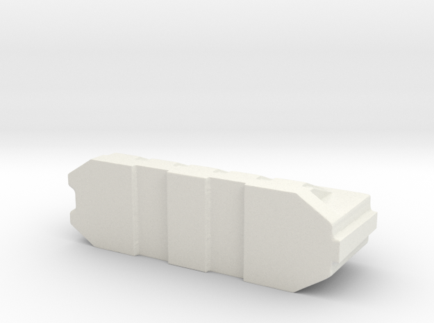 Barricade for tabletop games in White Natural Versatile Plastic