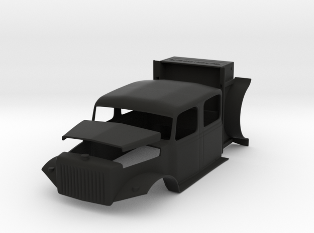 1/10th Scale, Clarck \ Strong, Cab, Hood, Box in Black Natural Versatile Plastic