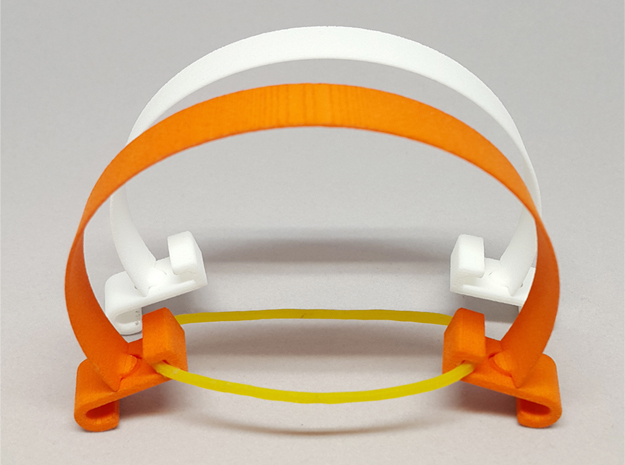 violin bowing corrector in Orange Strong & Flexible Polished