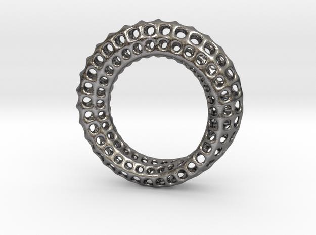 Voronoi Mobius #1 in Polished Nickel Steel