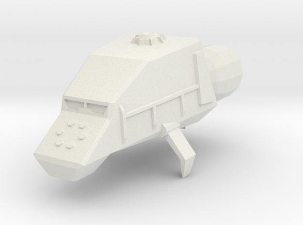 Utility Space Tug in White Natural Versatile Plastic