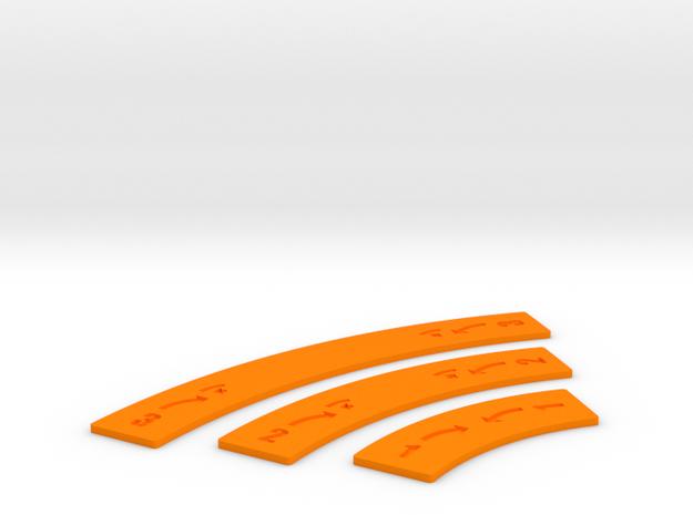 Alternative Bank Movement Sticks in Orange Processed Versatile Plastic