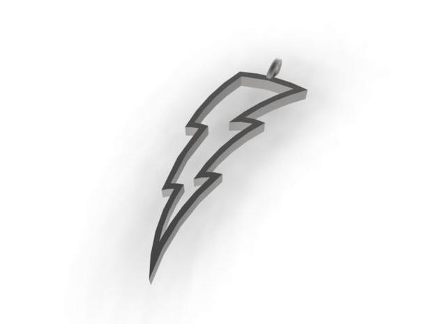 Lightning Bolt Pendant 3d printed rendered view