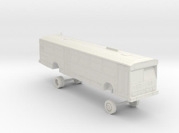 HO Scale Bus Gillig Phantom Westcat 110s in White Natural Versatile Plastic
