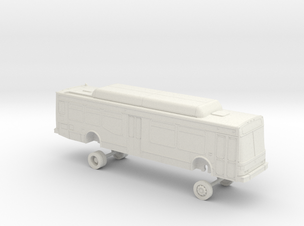 HO Scale Bus NABI 40-LFW LACMTA low 7000s in White Strong & Flexible