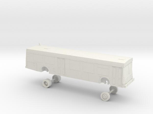 HO Scale Bus New Flyer D40LF Houston Metro 3200s in White Natural Versatile Plastic