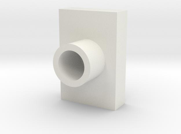 Lens Cap Retangle LED in White Strong & Flexible