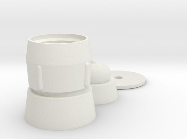 Mic Tip Single in White Natural Versatile Plastic