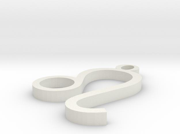 Leo Pendant in White Natural Versatile Plastic