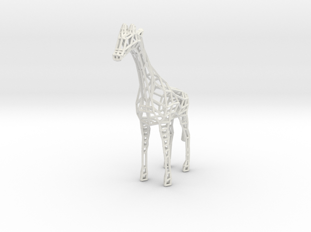 Wire Giraffe in White Strong & Flexible