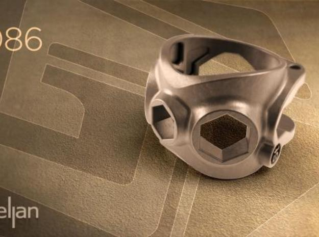 1086 ToolRing - size 7 (17,35 mm) 3d printed 1086 ToolRing - Render A