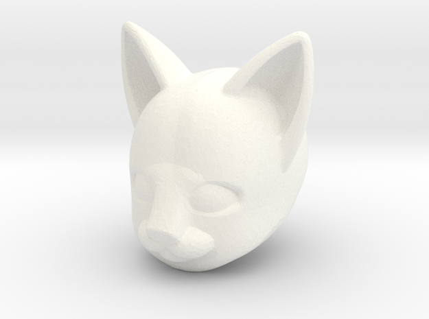 Anthro Cat Head (Marvel Legends Version) in White Strong & Flexible Polished