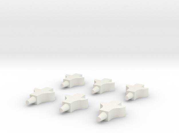 Reading Railroad Rail Rack HO-scale 3pk in White Natural Versatile Plastic