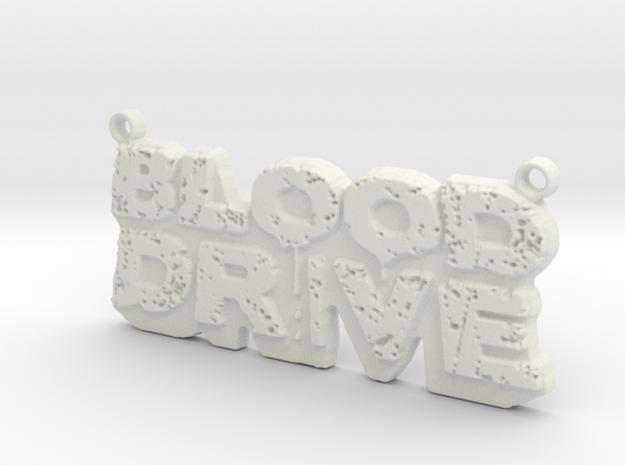 Blood Drive Pendant in White Natural Versatile Plastic