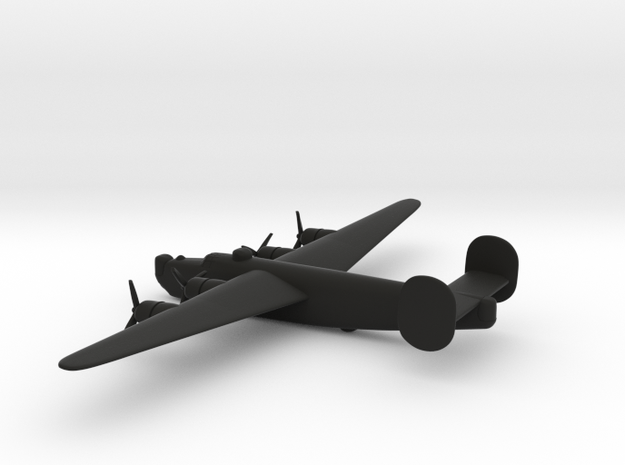Consolidated B-24J (w/o landing gears) in Black Natural Versatile Plastic: 6mm
