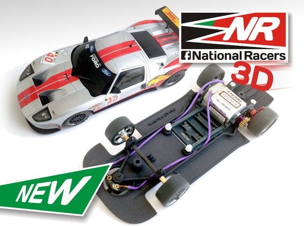 3D Chassis - NINCO Ford GT (AW/SW) in Black Natural Versatile Plastic