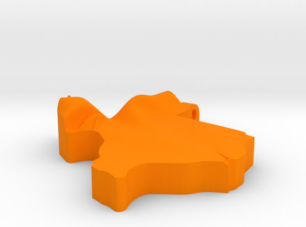 Texas Pendant in Orange Processed Versatile Plastic