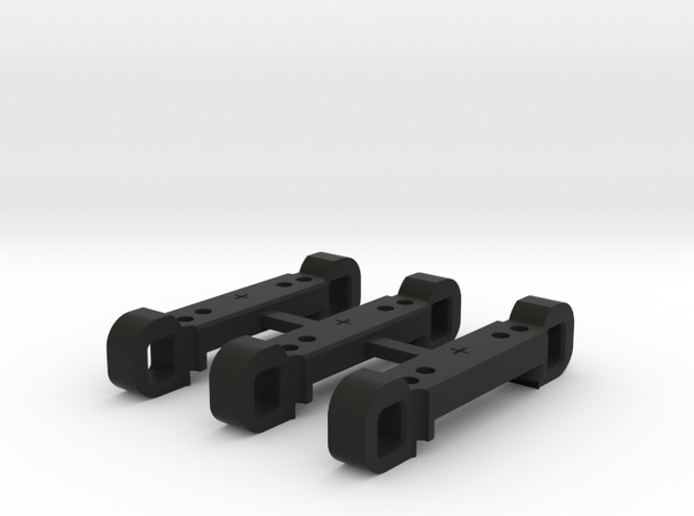 Rear Suspension Mount - R +2mm in Black Strong & Flexible