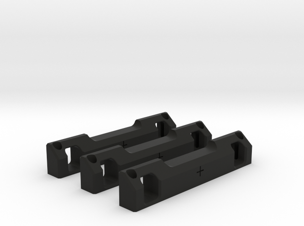 Rear Suspension Mount - F +2mm in Black Strong & Flexible