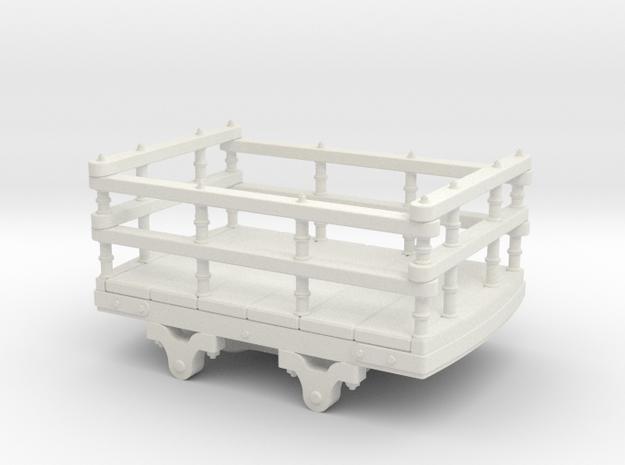 5.5mm scale Dinorwic wooden slate wagon in White Natural Versatile Plastic