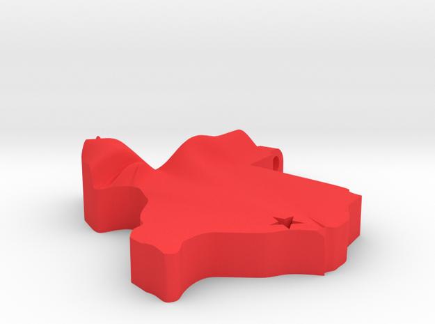 Houston, TX Pendant in Red Processed Versatile Plastic